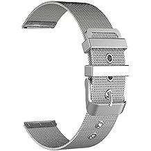 BarRan® Withings steel hr 36MM Correa, 18mm Milanese Ver Banda de liberación rápida de la correa de acero inoxidable reloj para Withings steel hr 36MM