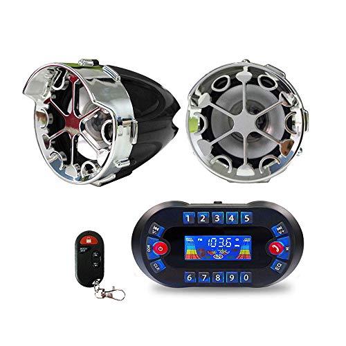 ZZKJTANGYMTT Motorrad Lautsprecher,Motorrad-Audio, Bluetooth-Anruf-Lautsprecher, Motorrad-Handy-LadegeräT, Auto-Mp3-Bluetooth-Audio, Wasserdichtes Audio, UnterstüTzung Der Spannung 12V,Black