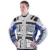 Lemoko Textil Motorradjacke grau blau Gr XL