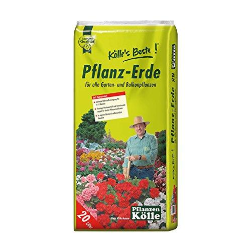 Pflanzerde 20 Liter – Blumenerde – für Balkon- und Gartenpflanzen – Gärtnerqualität – Kölle's Pflanzerde
