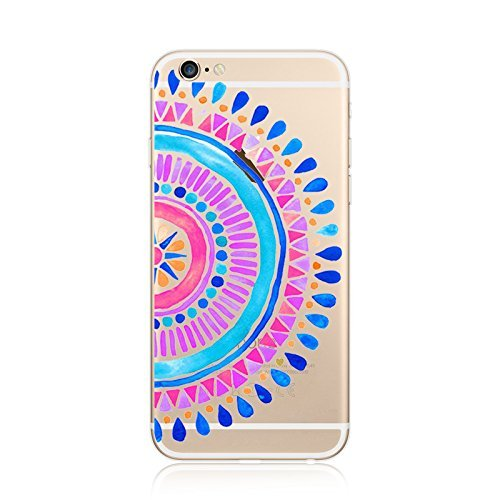 Coque iPhone 7 Plus Housse étui-Case Transparent Liquid Crystal en TPU Silicone Clair,Protection Ultra Mince Premium,Coque Prime pour iPhone 7 Plus-Mandala-New-style 4 4