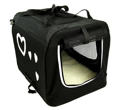 Valentina Valentti Medium Pet Folding Carrier Transport Crate With Hearts M