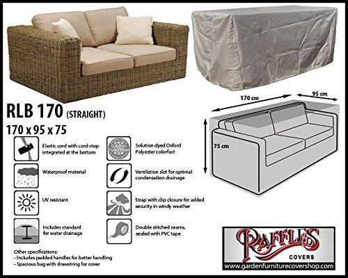 RLB170straight Wetterschutz für Lounge Bank, Gartensofa oder Lounge Sofa, 2 Sitzer, passt am besten...