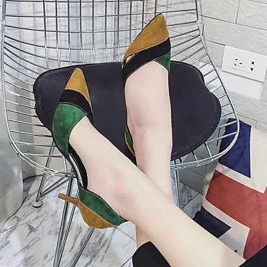 Zormey Frauen Heels Feder Komfort Pu Casual Stiletto-Absatz US5.5 / EU36 / UK3.5 / CN35