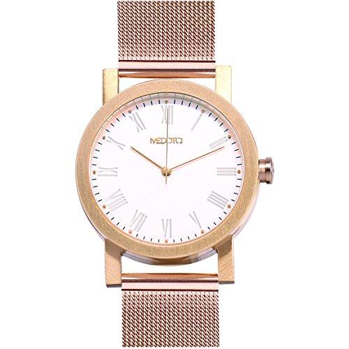 medota minimalistisches Licht Serie Damen-Armbanduhr Automatik Wasser beständig Analog Quarz–Nr. 21903(Rose)