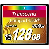 Transcend Ultimate CompactFlash 128GB Speicherkarte (1000x , 160MB/s Lesen (max.), Quad-Channel, VPG-20 Video Performance)
