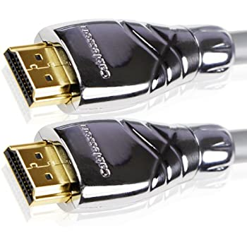 Cablesson Maestro 0.5m Ultra Advanced High Speed HDMI Cable with Ethernet Latest 2.0 / 1.4a version, 1080p 2160p 4k2k ARC 3D UHD TV XBOX 360 XBOX One PS3 PS4 Deep Color SkyHD Virgin Box Wii U PC Full HD. Removeable Metal Die-cast end connector casing