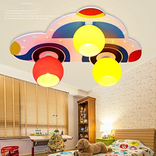 Ali Éclairage décoratif de jardin d'enfants Styling Lighting Lampes de plafond de LED avec des enfants Lampe de chambre à coucher de lampe de bande dessinée de garçon (66 * 45 * 16cm)