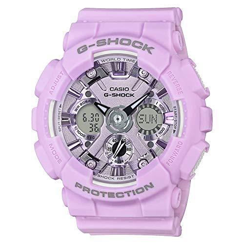 G-Shock By Casio Women's Analog-Digital S Series GMAS120DP-6A Automatic-Self-Wind Resin Watch Purple