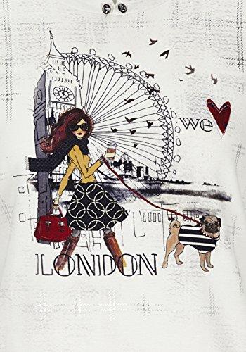 Langarmshirt mit London-Print Natur