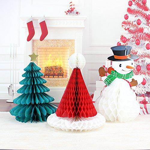 INOVEY Christmas Diy Dekoration Baum Hut Schneemann Kamm Ball Party Weihnachten Anhänger & Drop Ornamente Anbieter (Ornament Ball Christmas Drop)