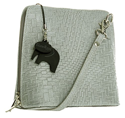 Big Handbag Shop, Borsa a tracolla donna Taglia unica Rattan -Grey