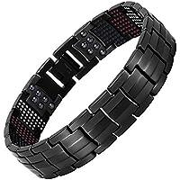 THEE Herren Magnetisches Armband Magnete Therapie Elemente Arthritis Link Titan Armbänder preisvergleich bei billige-tabletten.eu