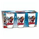 BETA Service EL51463Marvel Avengers Bicchieri, Vetro, Multicolore,  15 x 25 x 12 cm, Set di 3