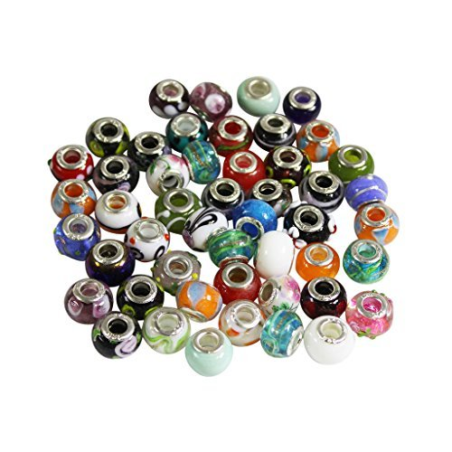 pack-of-50-murano-style-glass-blown-beads-charms-findings-for-jewellery-bracelets-necklaces-by-kurtz
