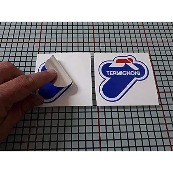 10 x 10 cm Ecoshirt NX-16BO-VRJB Stickers Termignoni Ref: R181 Aufkleber Autocollants Adesivi Moto GP Decals Motorcycle Multicolor 10 x 10 cm