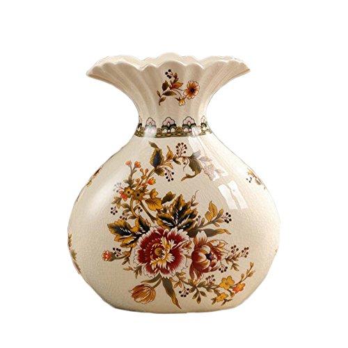 ufengke® Vase Beige En Céramique D'Européen Pivoine Pastel Peinte Rétro