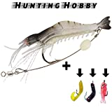 #9: Shrimp With Hook Free Soft Lures Use In Fishing Rod Reel