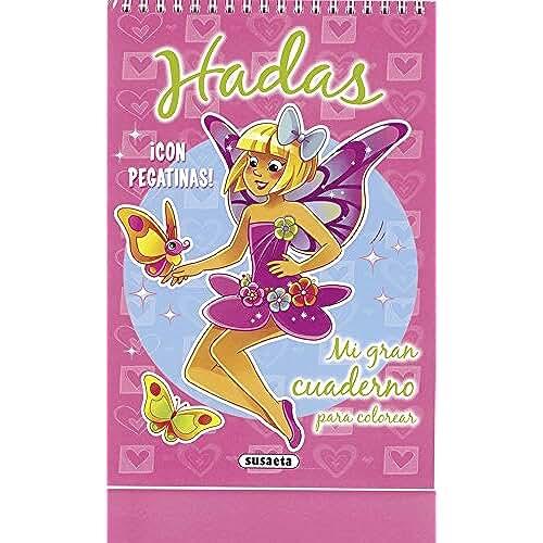 jirafa kawaii para colorear y mas Hadas (Mi gran cuaderno para colorear)