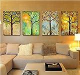 Europäischer Stil Wohnzimmer Verziert Mit Sofa Hintergrund Wand Vier Jahreszeiten Baum ( größe : 30*40*2.5cm )