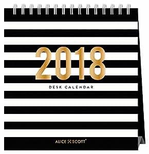 Alice Scott, calendario da tavolo 2018da Portico (lingua italiana non garantita)