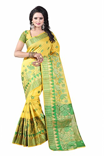 Shiroya Brothers Women's Cotton Silk Saree With Blouse Piece