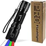 4 in 1 LED Torch Super Heldere 900 Lumen Rood & Groen Licht Blauw Licht Multifunctionele Handheld Zaklamp Verstelbare Focus W