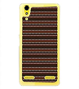 Fuson Designer Back Case Cover for Lenovo A6000 Plus :: Lenovo A6000+ :: Lenovo A6000 (Template Black triangles White Triangles Alternate Side By Side)