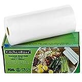 KitchenBoss Sacs sous Vide Pack de 1 Rouleaux 20 * 1500cm avec Boîte de Coupe(Pas Plus de Ciseaux) sans BPA, Approuvé par la FDA pour Appareil sous Vide, Qualité Commerciale