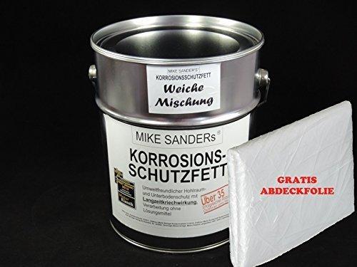 Preisvergleich Produktbild Mike Sanders Korrosionsschutzfett 4 kg (weiche Mischung) plus Abdeckplane GRATIS!!!