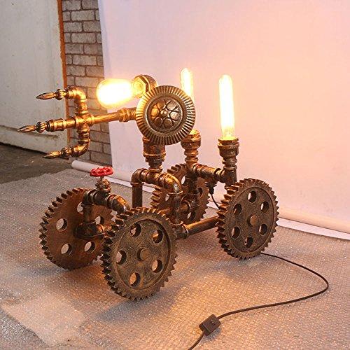 Nombre del producto: Lámpara de mesa [Eficiencia: A +] Tipo de interruptor: Interruptor de atenuación Material del cuerpo de la luz: hierro Material de la cubierta de la lámpara: hierro Tipo de fuente de luz: lámpara incandescente LED otro...