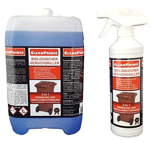Bio Geruchskiller + Reiniger 2,5 Liter Biotonne Geruchsvernichter Vernichtung Gerüche Absorber Mülltonnen Windeleimer Abfall Neutralisation Urinale Maden im Mülleimer Abfluss Abflüsse Geruchsentferner