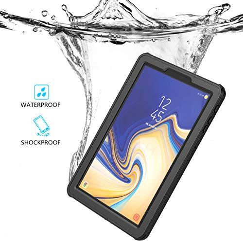 Banath Wasserdichte Hülle für Samsung Galaxy Tab S4 10.5 inch T830 T835, IP68 Zertifiziert Wasserdichte Stoßfest Schutzhülle Ganzkörper Rugged Schale Case - Schwarz