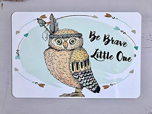 Toddrick Baby Shower Nursery Owl Inspirational Quote for Nursery Owl Baby Zinn schicke Zeichen Vintage-Stil Retro Küche Bar Pub Coffee Shop Dekor 8