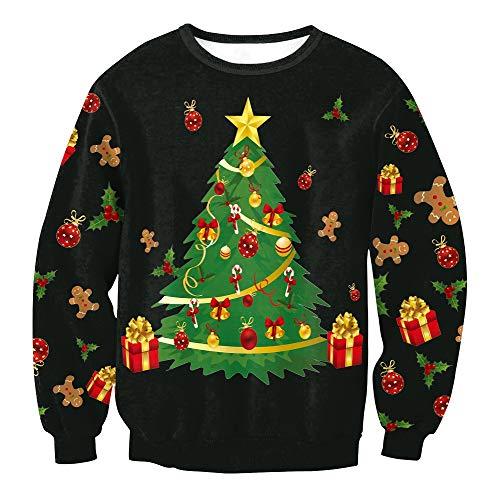 Lässige Pullover Für Weihnachten, Weihnachtskostüme, 3D Weihnachtsbäume Drucke Für Sweatshirts, Für Weihnachtsfeiern Und Verschiedene Weihnachtsfeiern (Weihnachtsgeschenke),M