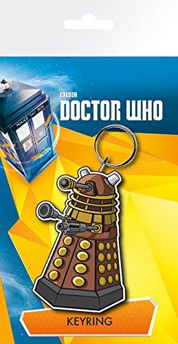 GB Eye Gerahmter Kunstdruck, Doctor Who, Dalek Abbildung Schlüsselanhänger, Mehrfarbig
