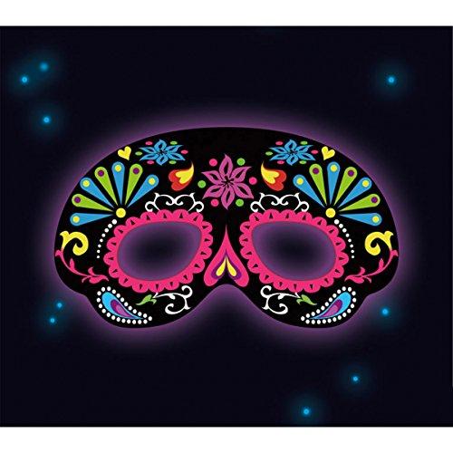 Amscam , Gastgeschenken Glow Stick Maske schwarz ornamtal