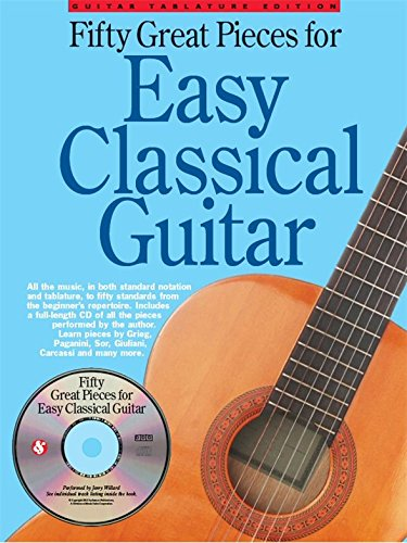 50 Great Pieces For Easy Classical Guitar. For Chitarra Classica, Tablatura di Chitarra