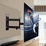 QualGear Universal Ultra Slim Low Profile Articulating Wall Mounting Kit with 10 ft HDMI v1.4 Cable and 3-Axis Magnetic Bubble Level for LED TV Upto 23-47-Inch Bild 6