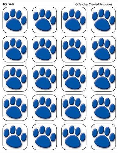 Teacher Created Ressourcen Tcr5747 Blue Paw Prints Aufkleber 120 Stk -