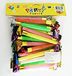 36 XL Party Blowers With Noise / DJ Party Blowers / Squawkers / Party Supplies / Party Favors / Party Blowers