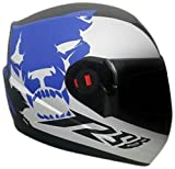 Steelbird SBA-1 Beast Matt Black with Blue with Smoke Visor,600mm