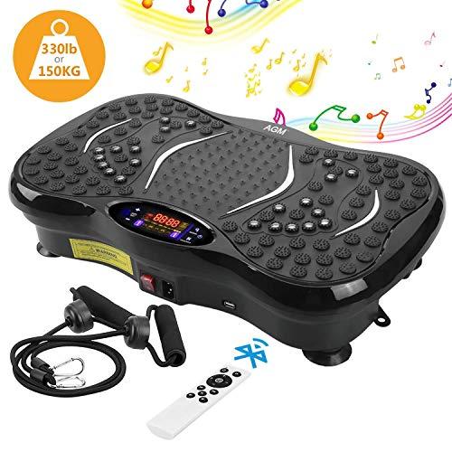AGM Plateforme Vibrante Oscillante, Plate-Forme de Vibration 3D Accessoire de Fitness Appareil de Massage Perte de Poids Rapide 150KG...