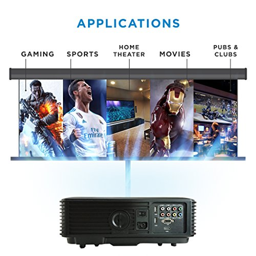 HD Projector Smart WIFI LED Projector - Bluetooth  HD 720  Full HD 1080p HDMI Projector for Home Cinema  Gaming  Home Entertainment  Multimedia  Home Theatre Projector  Pubs  Clubs  Hotels  Office  Conference  PowerPoint Presentation- ABIS HD6000 Plus Model  White