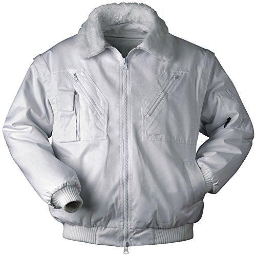 Piloten-Jacke 4 in 1 - Kragenfutter und Ärmel abtrennbar - weiß - Größe: S