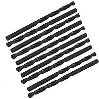 Proto Cool 3.7mm Dia 75mm langer HSS Spiralflöte Zylinderschaft Spiralbohrer schwarz 10 Stück