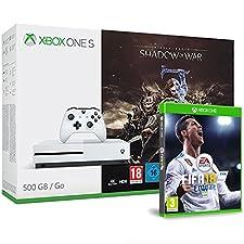 Pack Console Xbox One S 500Go avec L'Ombre de la Guerre + FIFA 18
