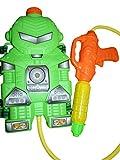 S31 Wasserpistole Pumpgun mit coolem Roboter Rucksack als Wassertank