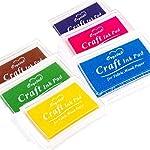 Craft Ink Pad Stamps Partner Set of 3 DIY Assorted Color