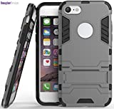 WOW Imagine(TM) Premium Military Grade Protection AirArmour Super Slim Dual Layer Tough Hard Back Case Cover for Apple iPhone 8 / iPhone 7 (4.7 inch screen) - Metallic Grey